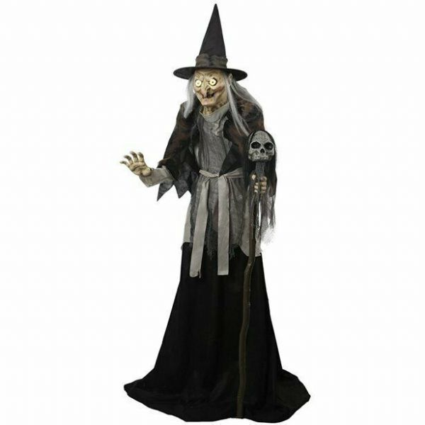 Halloween Lunging Haggard Witch Animated Figure - 1.8m